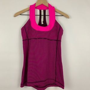 Lululemon Pink Scoop Neck Tank